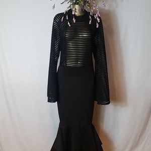 *USA BLACK MERMAID STYLE DRESS